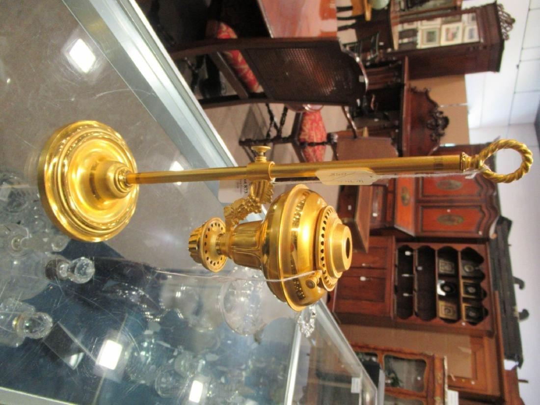 American Gilt Bronze Solar Lamp, marked Hooper - 8