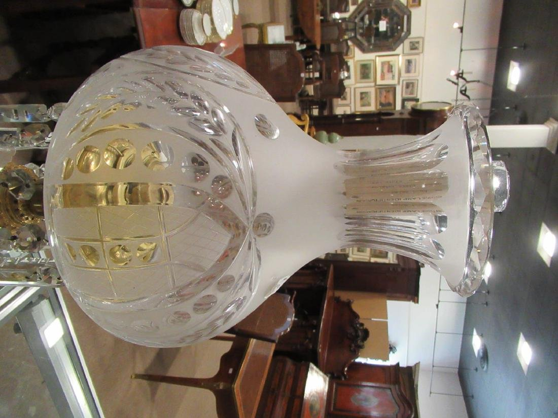 American Gilt Bronze Solar Lamp, attr. Dietz - 4