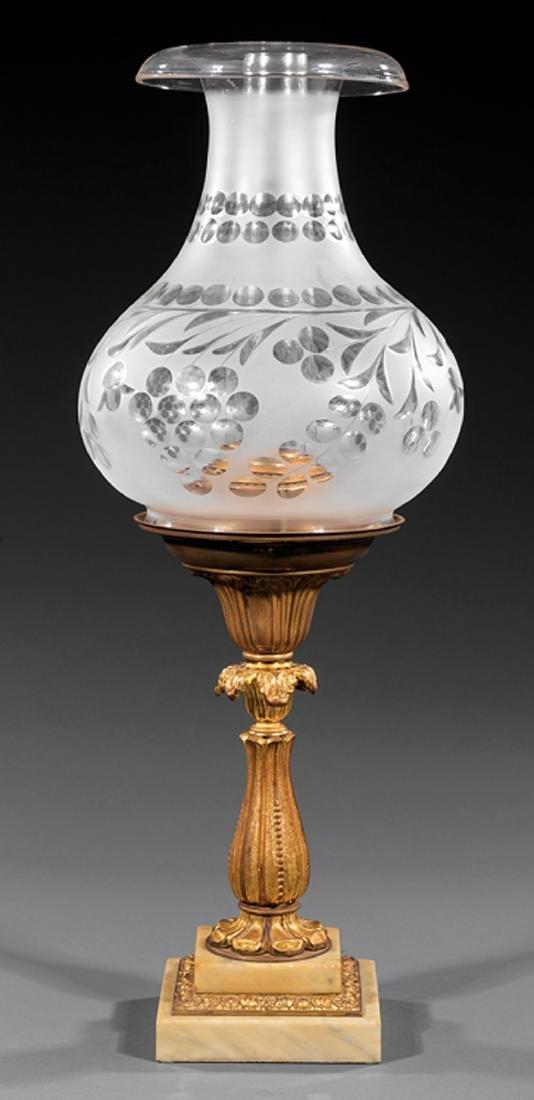 Gilt Bronze Solar Lamp, attr. Starr Fellows
