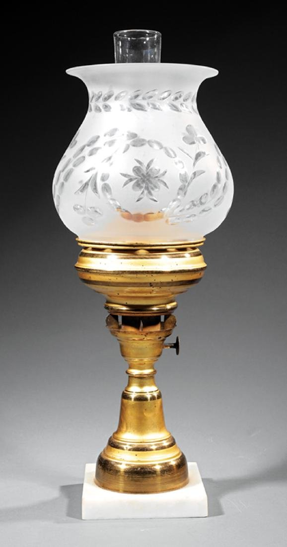 Gilt Brass Solar Lamp, marked L van Burschoten