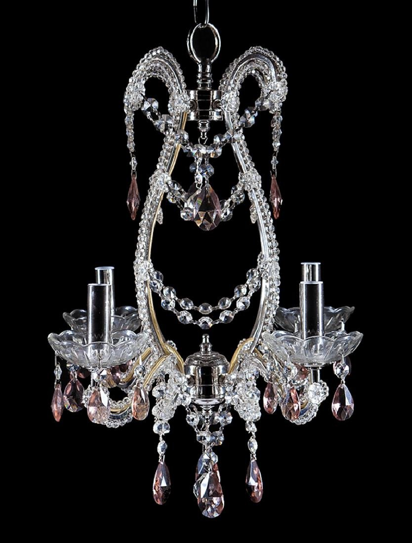 Diminutive Louis XVI-Style Four-Light Chandelier