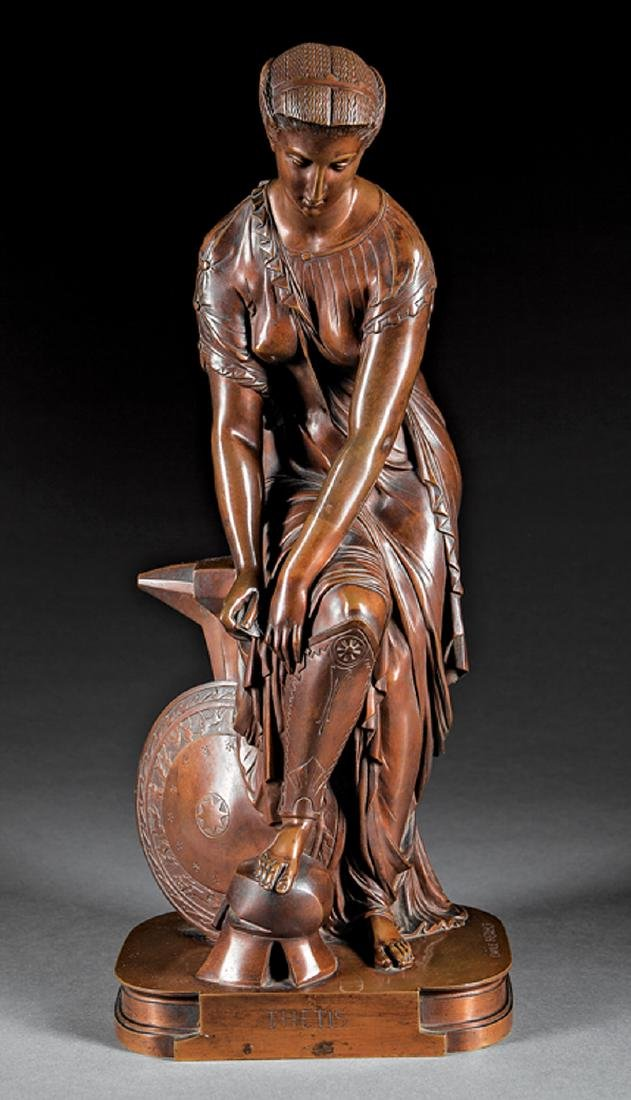 Continental Bronze Figure of Thetis