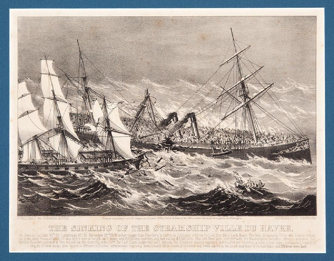 Currier & Ives, Steamship Ville du Havre - 2