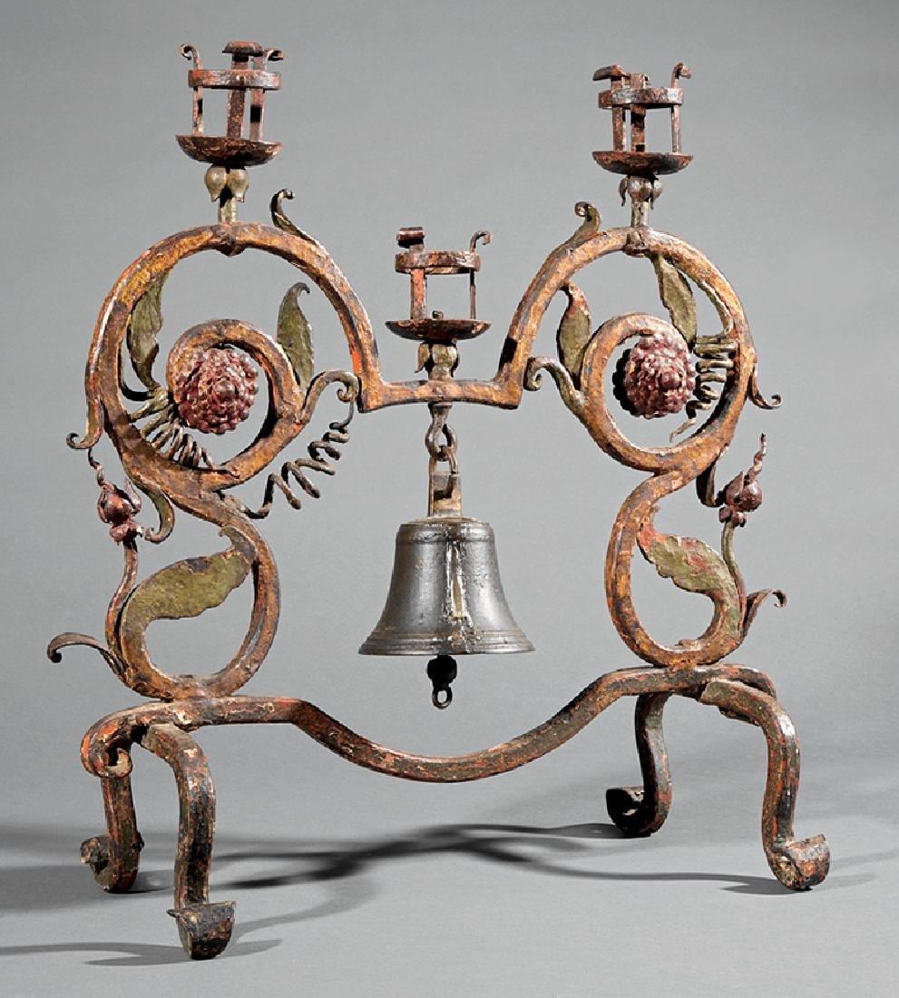 American Wrought Iron Butler's Dinner Bell
