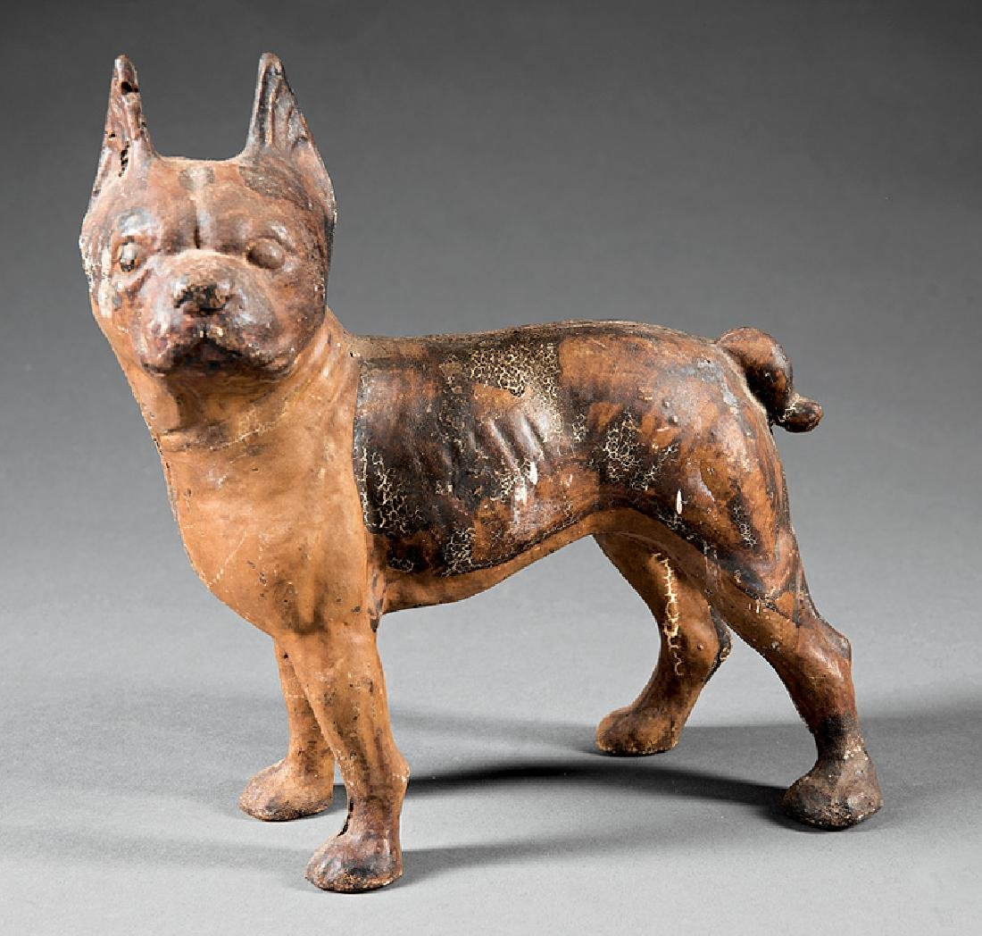 Polychromed Cast Iron Boxer Door Stop