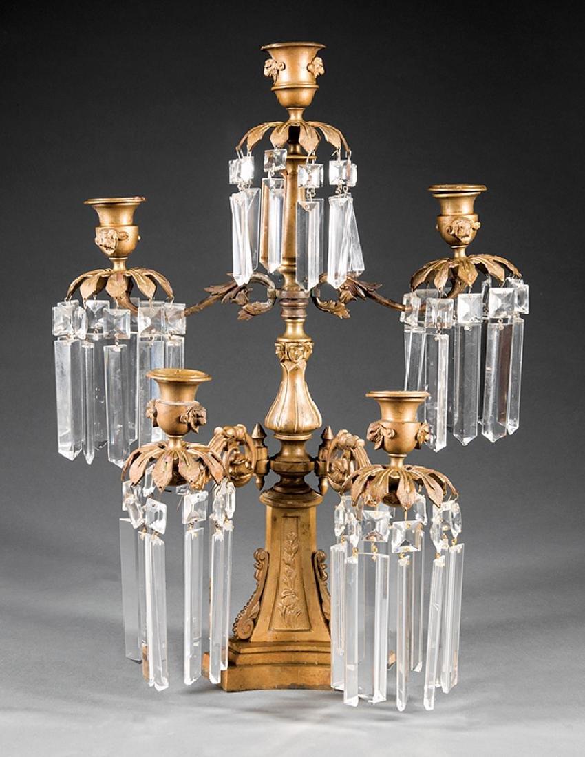 Antique Bronze Five-Light Girandole