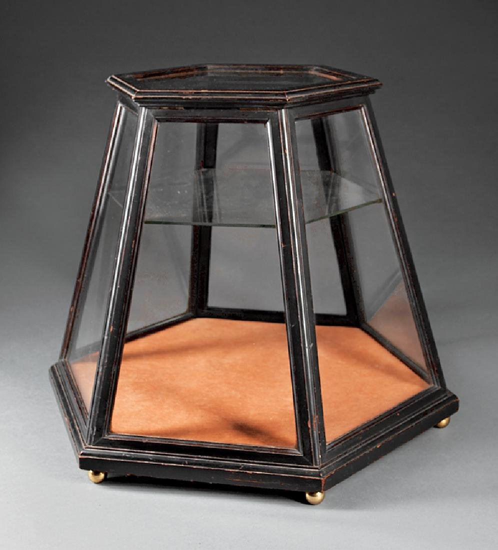 American Walnut Table Top Display Case