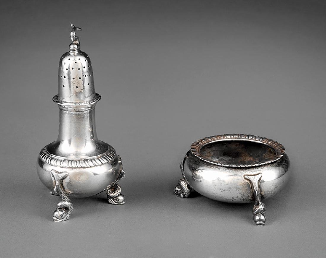 Tuttle Silversmiths Salt Cellars and Pepperettes