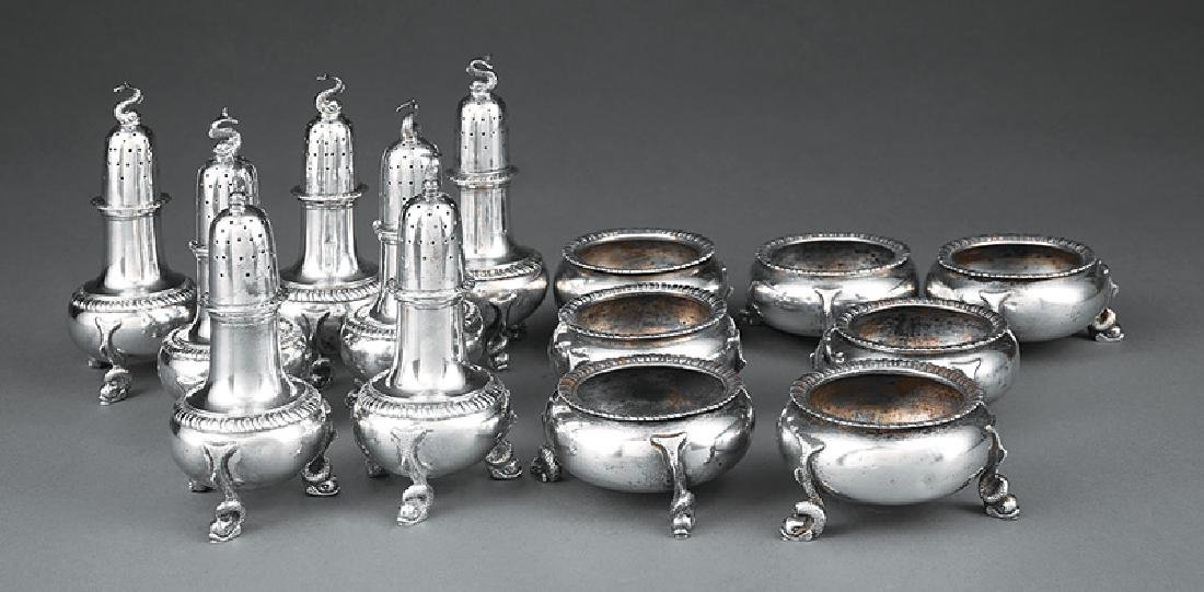 Tuttle Silversmiths Salt Cellars and Pepperettes - 2