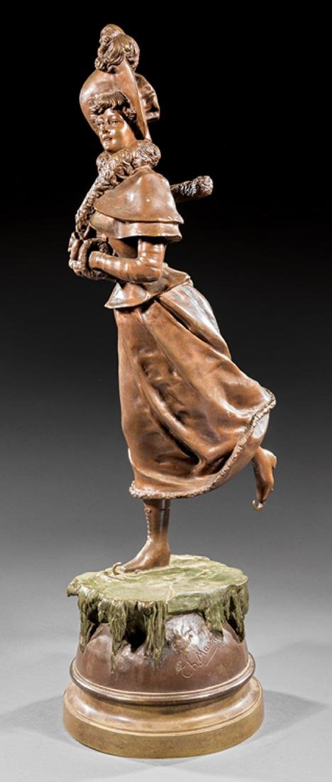 Bronze Ice Skater, after Rene Charles Masse