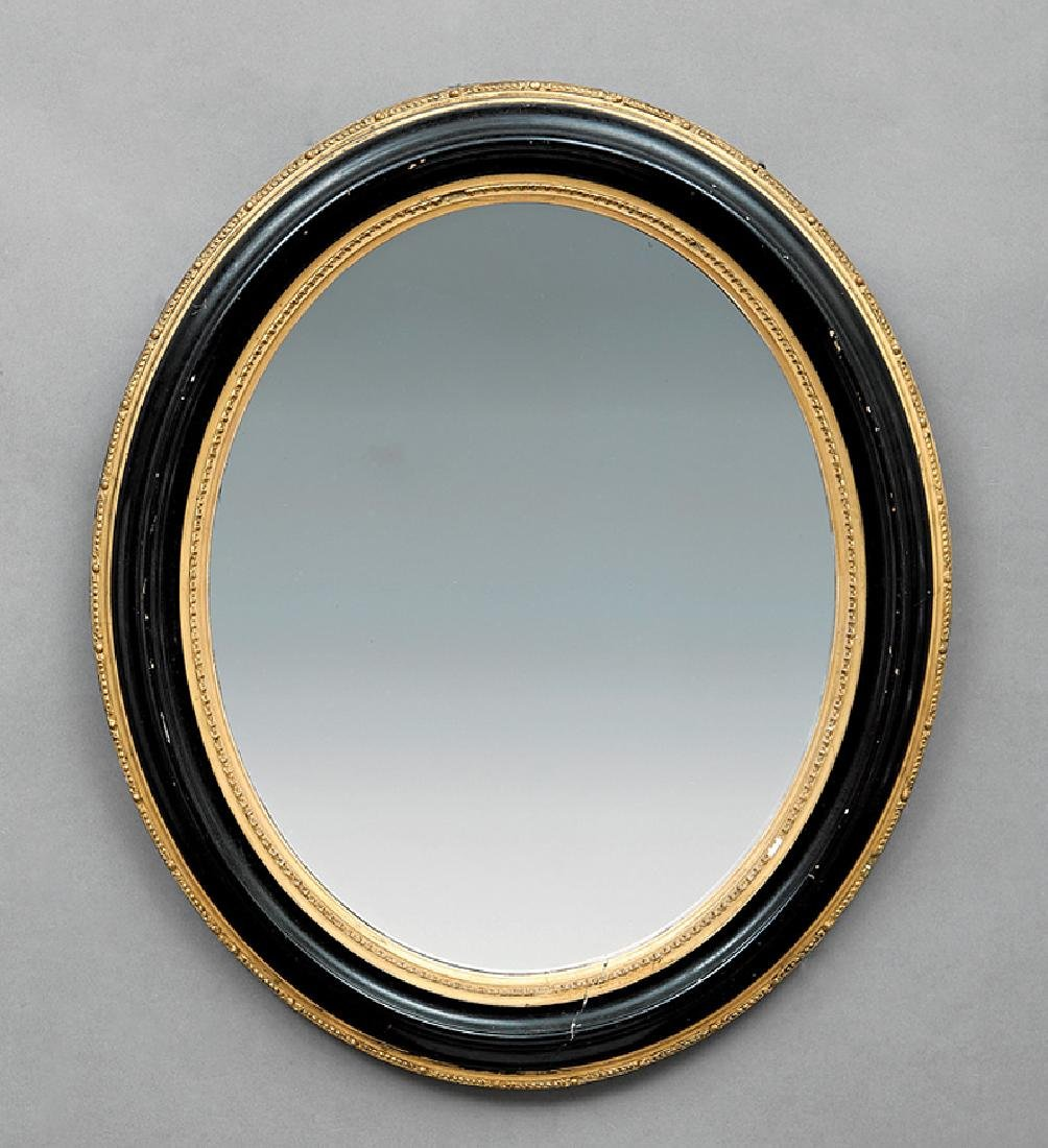 American Painted and Parcel Gilt Mirror