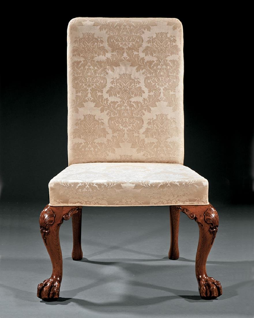 George II-Style Carved Walnut Side Chair