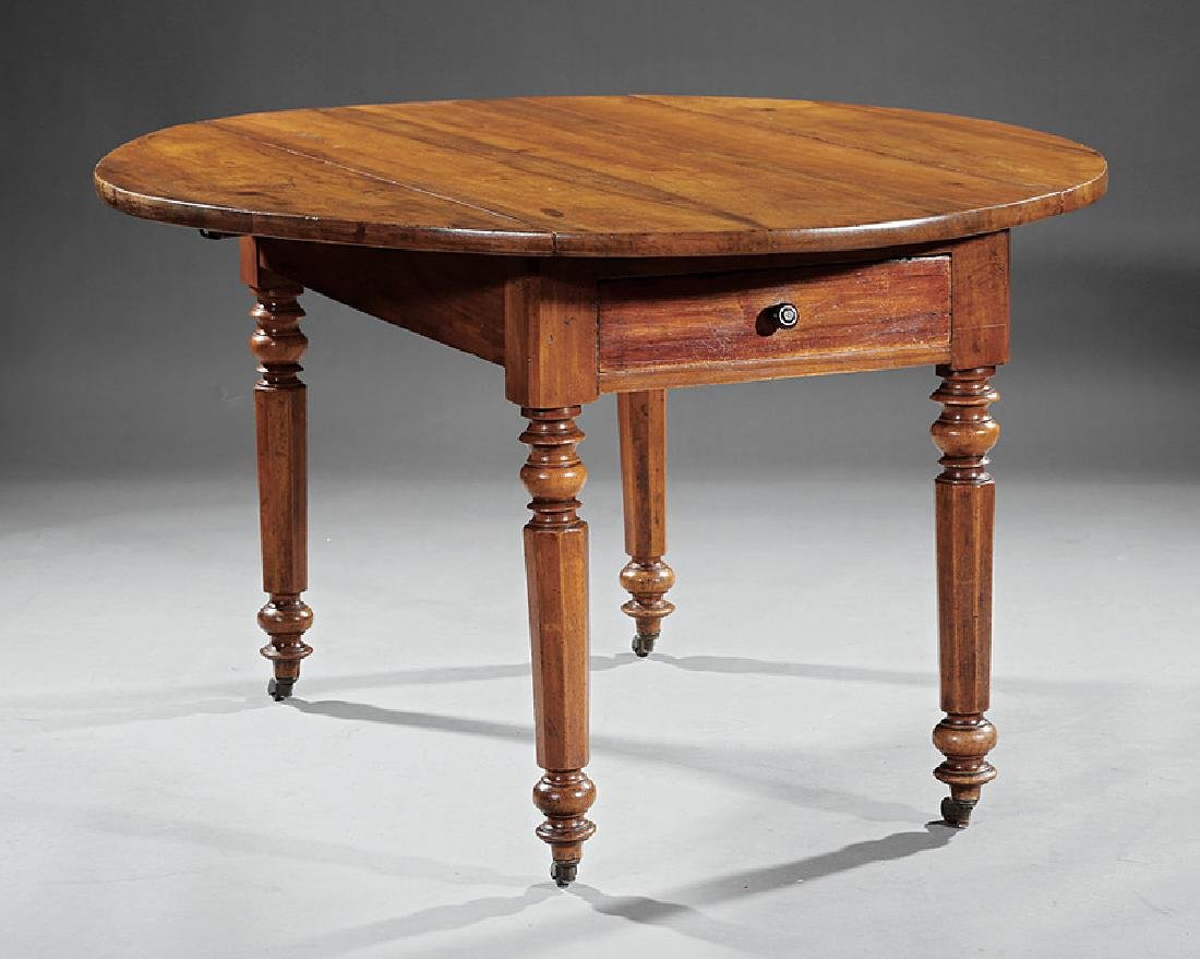 English Walnut Drop-Leaf Table - 2