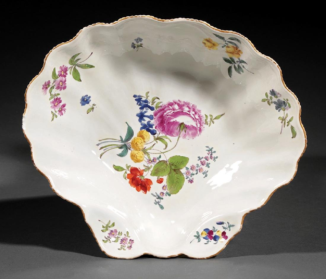 Meissen Porcelain Shell-Shaped Dish