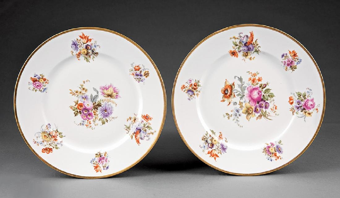 Ten Limoges Porcelain Dinner Plates