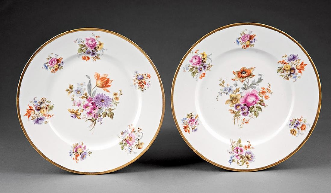 Ten Limoges Porcelain Dinner Plates - 2