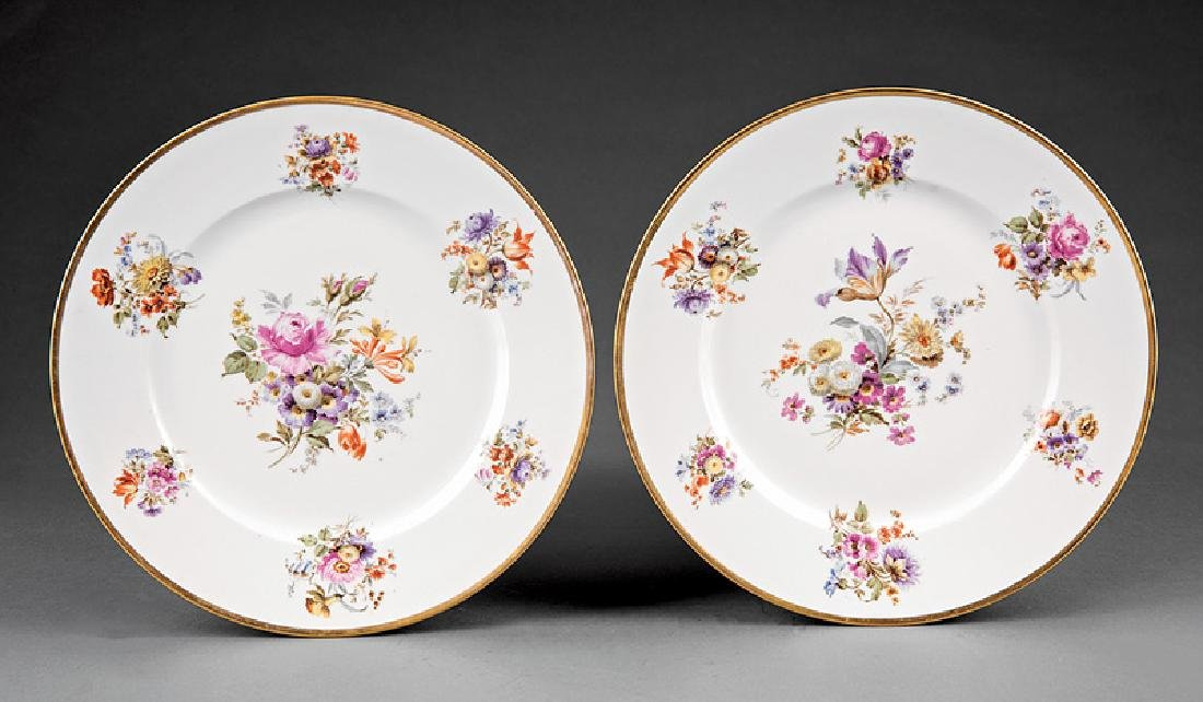Ten Limoges Porcelain Dinner Plates - 4