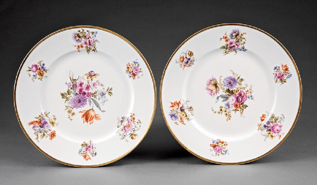 Ten Limoges Porcelain Dinner Plates - 5