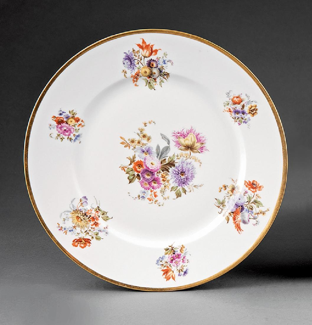 Ten Limoges Porcelain Dinner Plates - 6