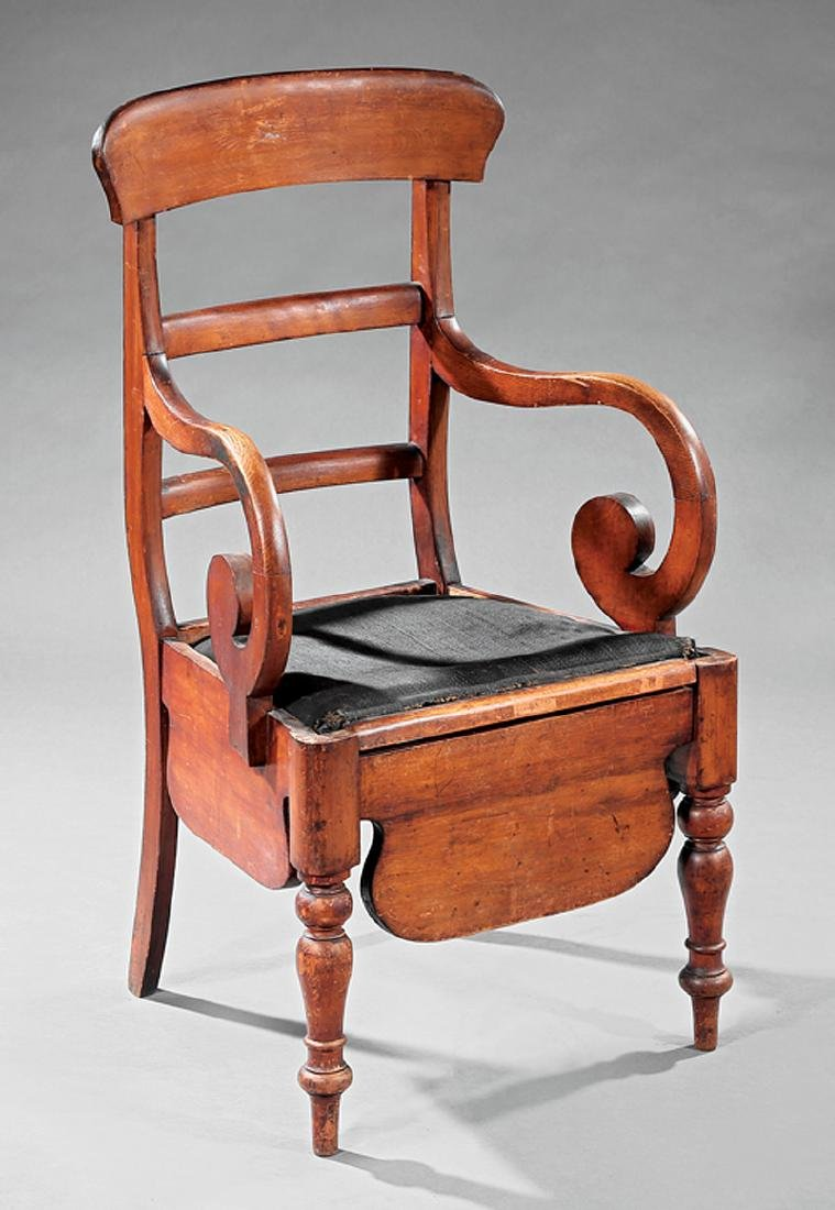 American Classical Cherrywood Commode Chair