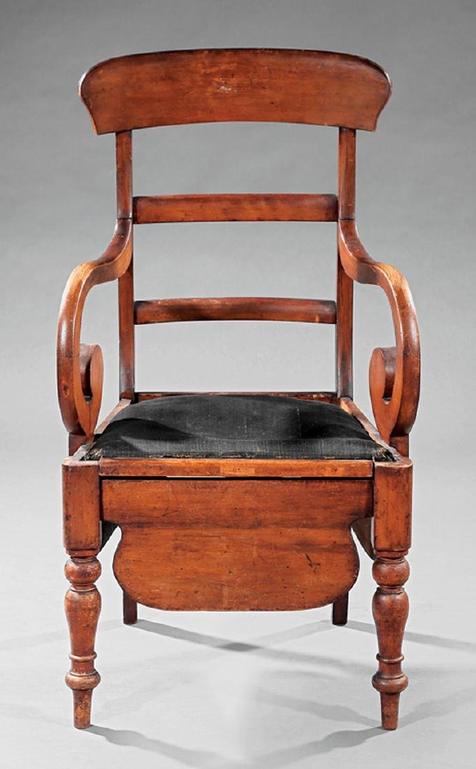 American Classical Cherrywood Commode Chair - 2