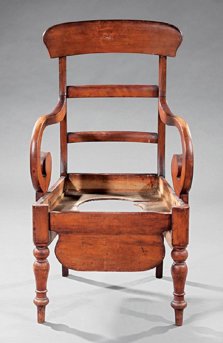 American Classical Cherrywood Commode Chair - 3