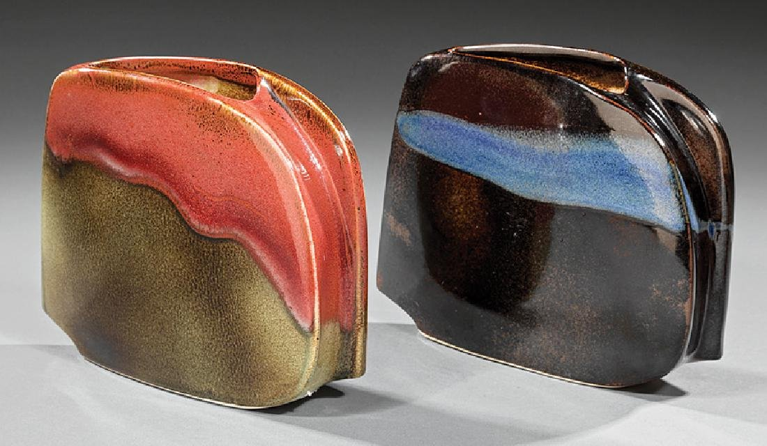 "Pair of ""Porcelaine Virebent"" Vases"