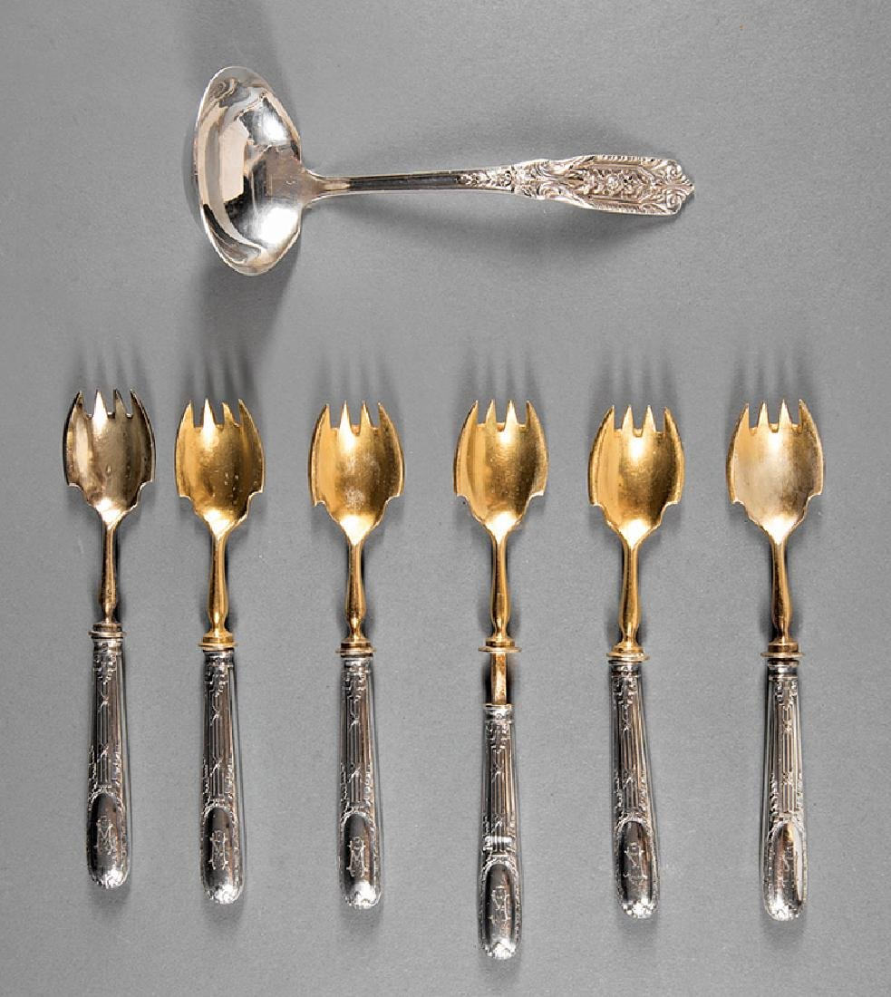 Six Continental .800 Silver Forks