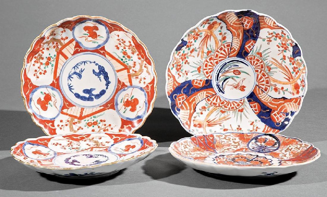 Four Japanese Imari Dishes