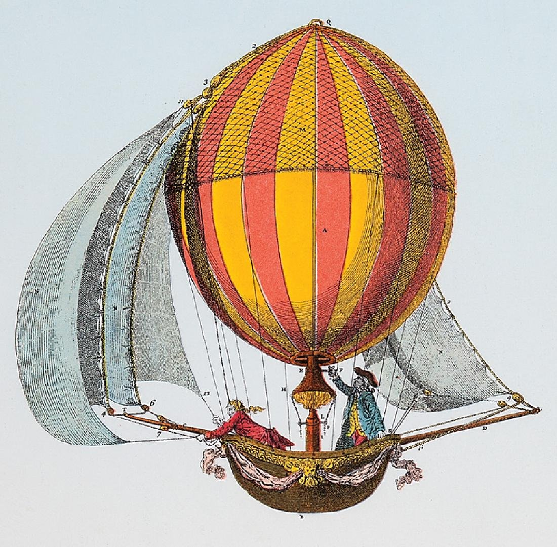 Four Decorative Prints of Hot Air Balloons - 3