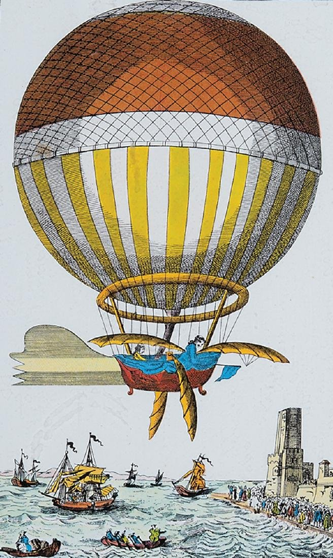 Four Decorative Prints of Hot Air Balloons - 4