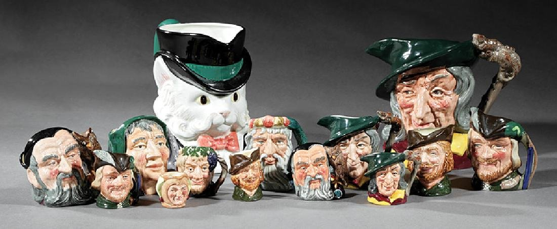 Thirteen Royal Doulton Toby Jugs