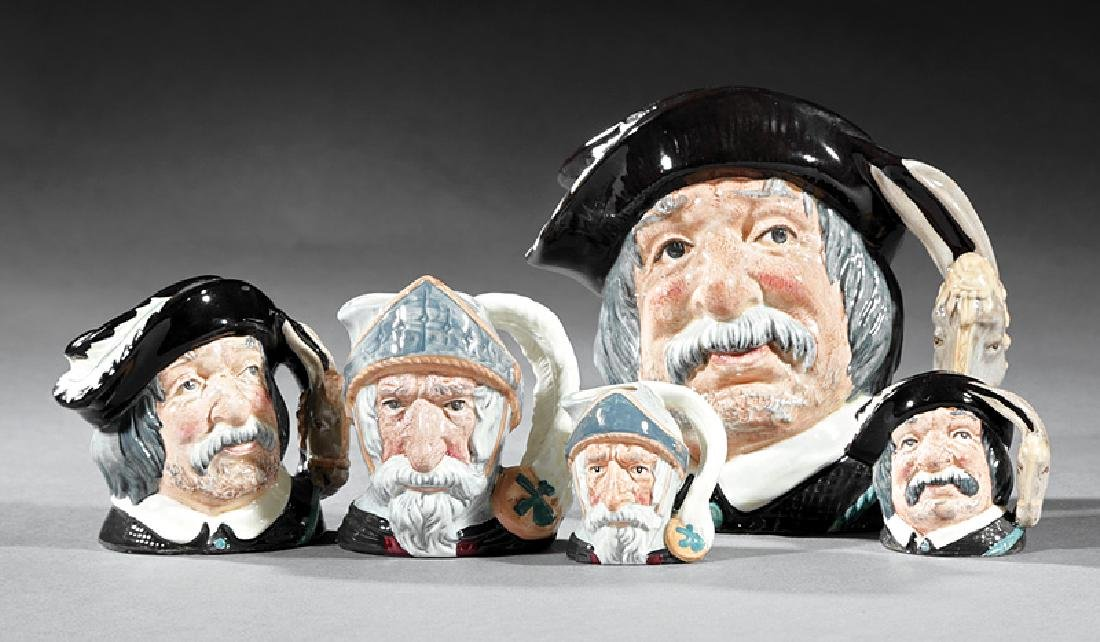 Five Royal Doulton Don Quixote Toby Jugs