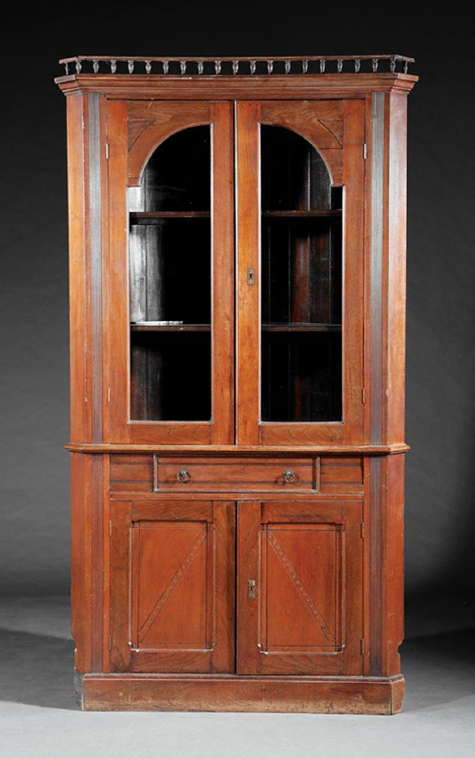 American Walnut Corner Cabinet