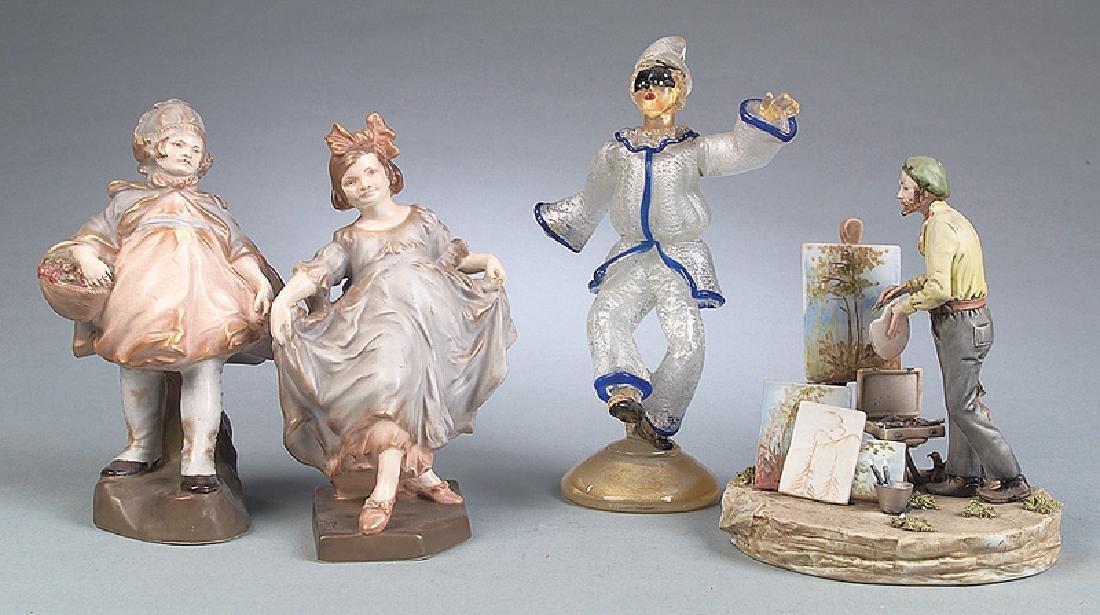 Fourteen Continental Porcelain Figures