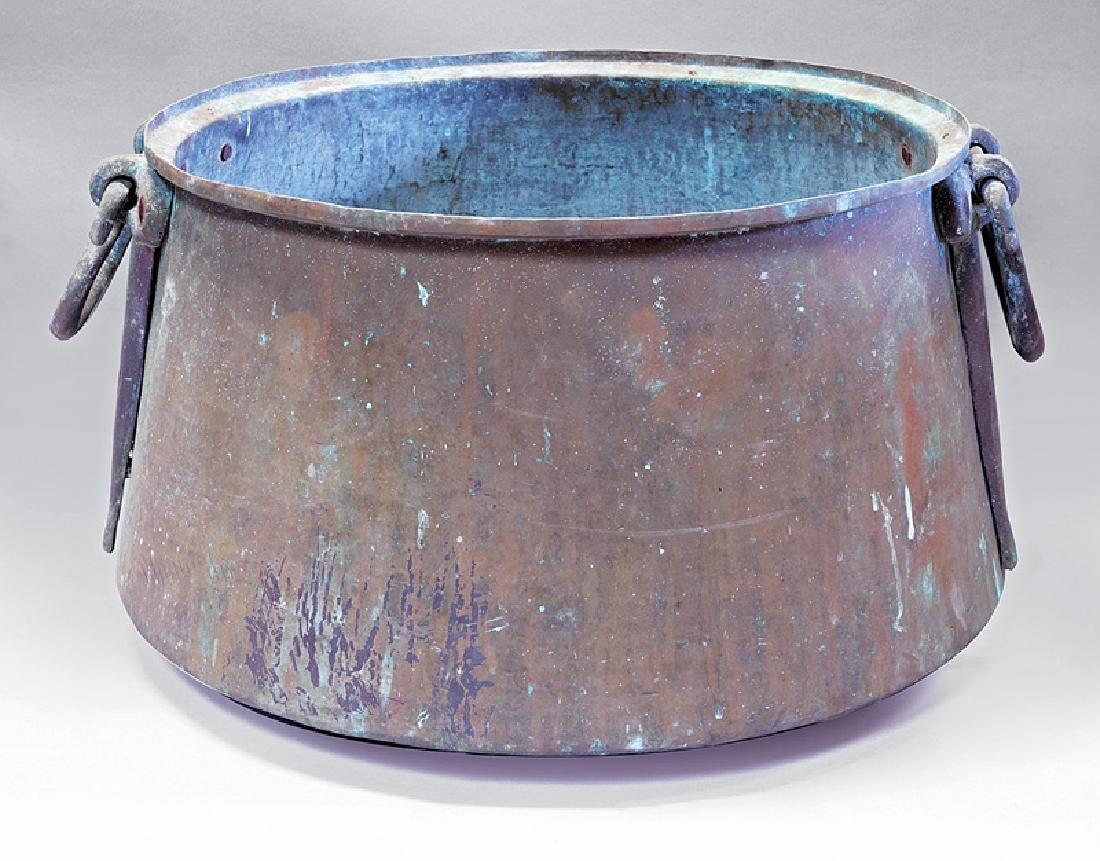 Antique Egyptian Copper Bean Pot