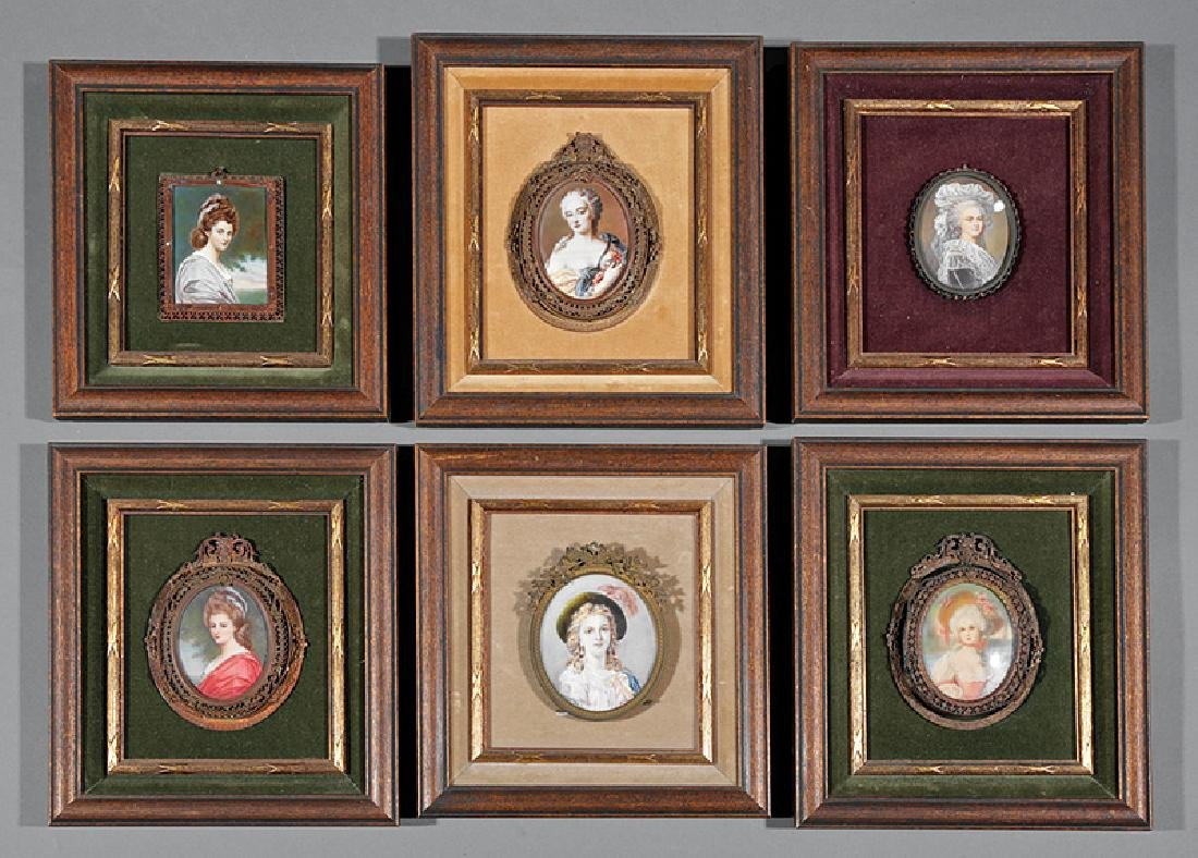 Six Continental Portrait Miniatures of Women