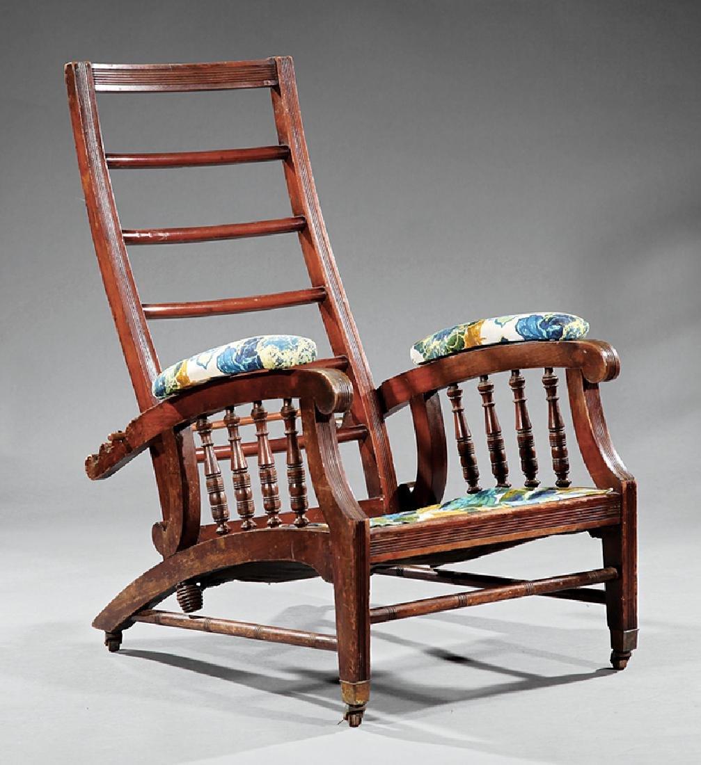 """American Carved Hardwood """"Morris"""" Chair"""