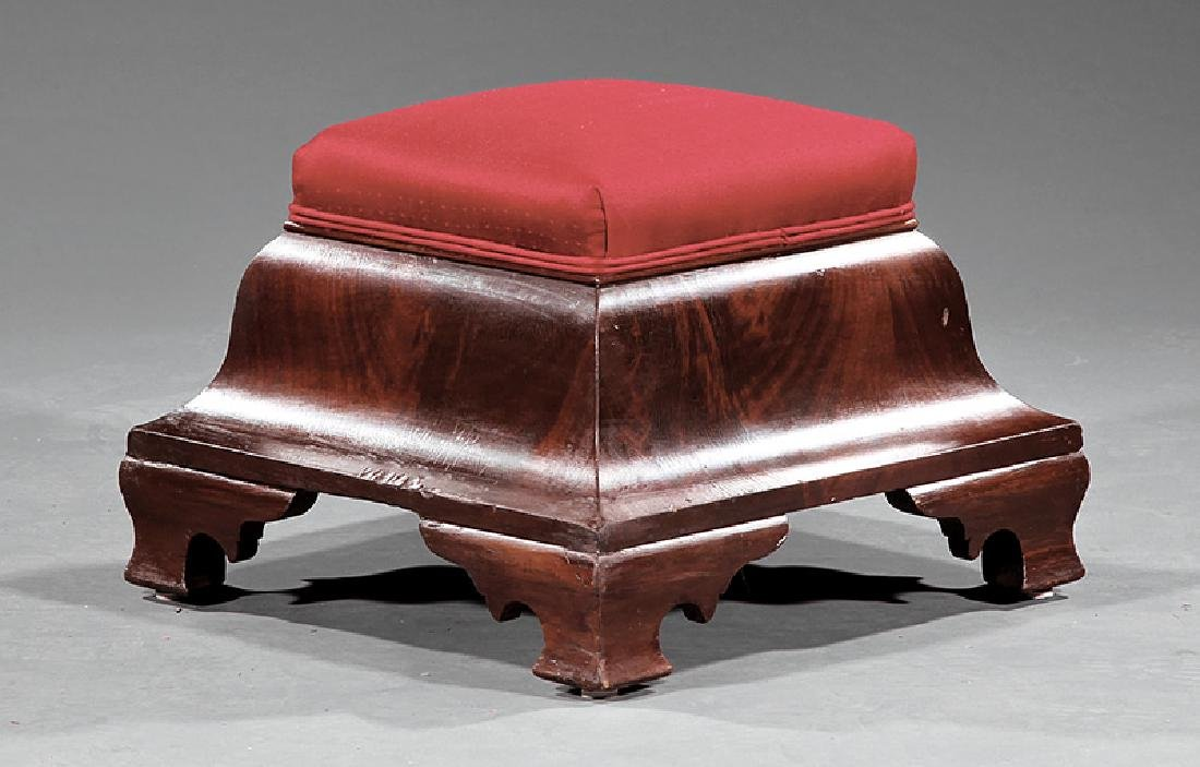 American Late Classical Mahogany Ottoman