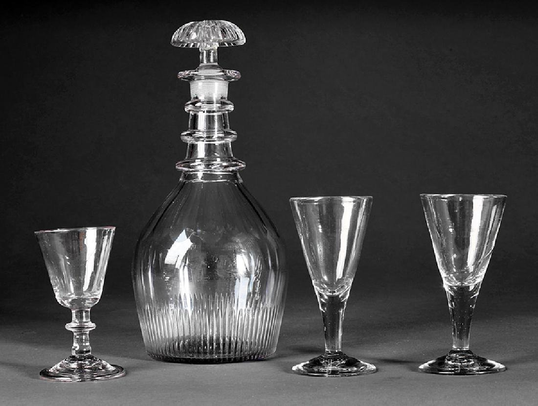 Antique Blown and Cut Glass Decanter