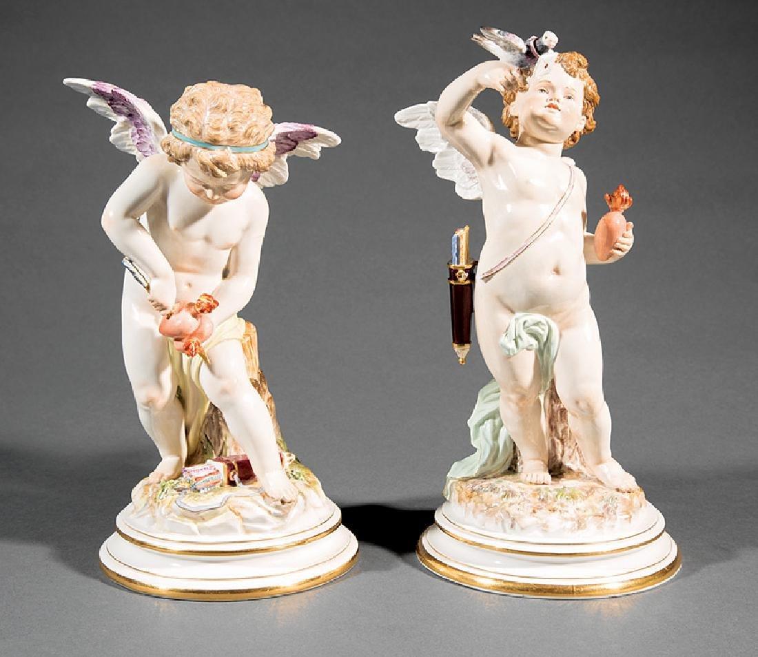 Meissen Porcelain Figures Emblematic of Love