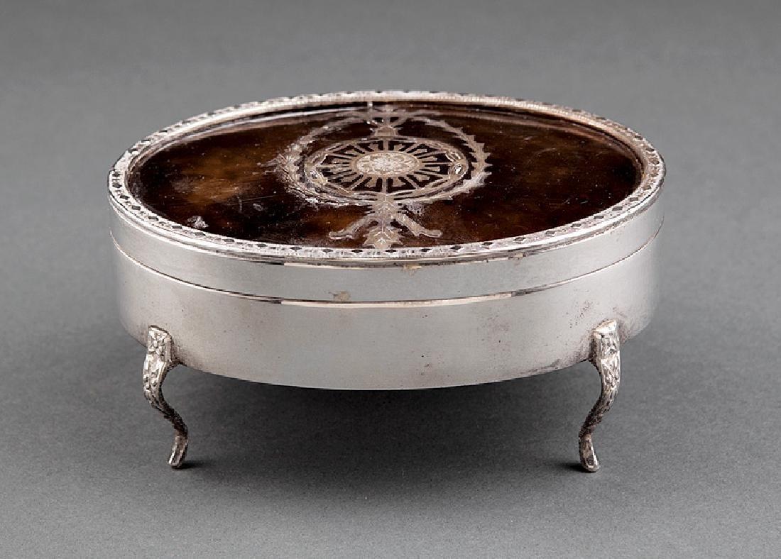 Silverplate and Tortoiseshell Dresser Box