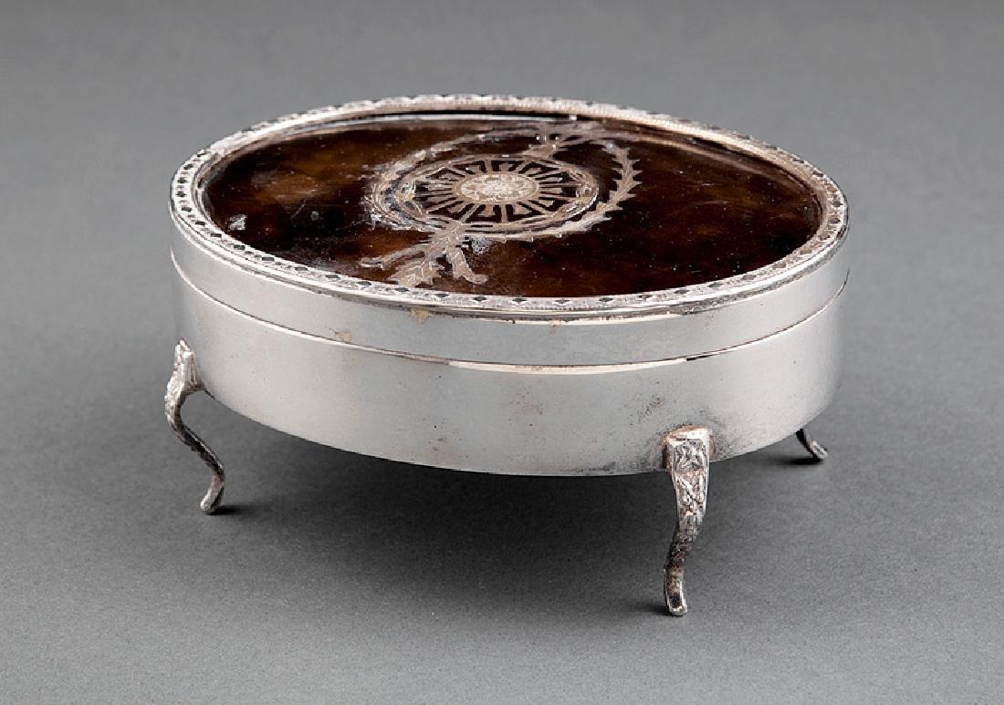 Silverplate and Tortoiseshell Dresser Box - 2