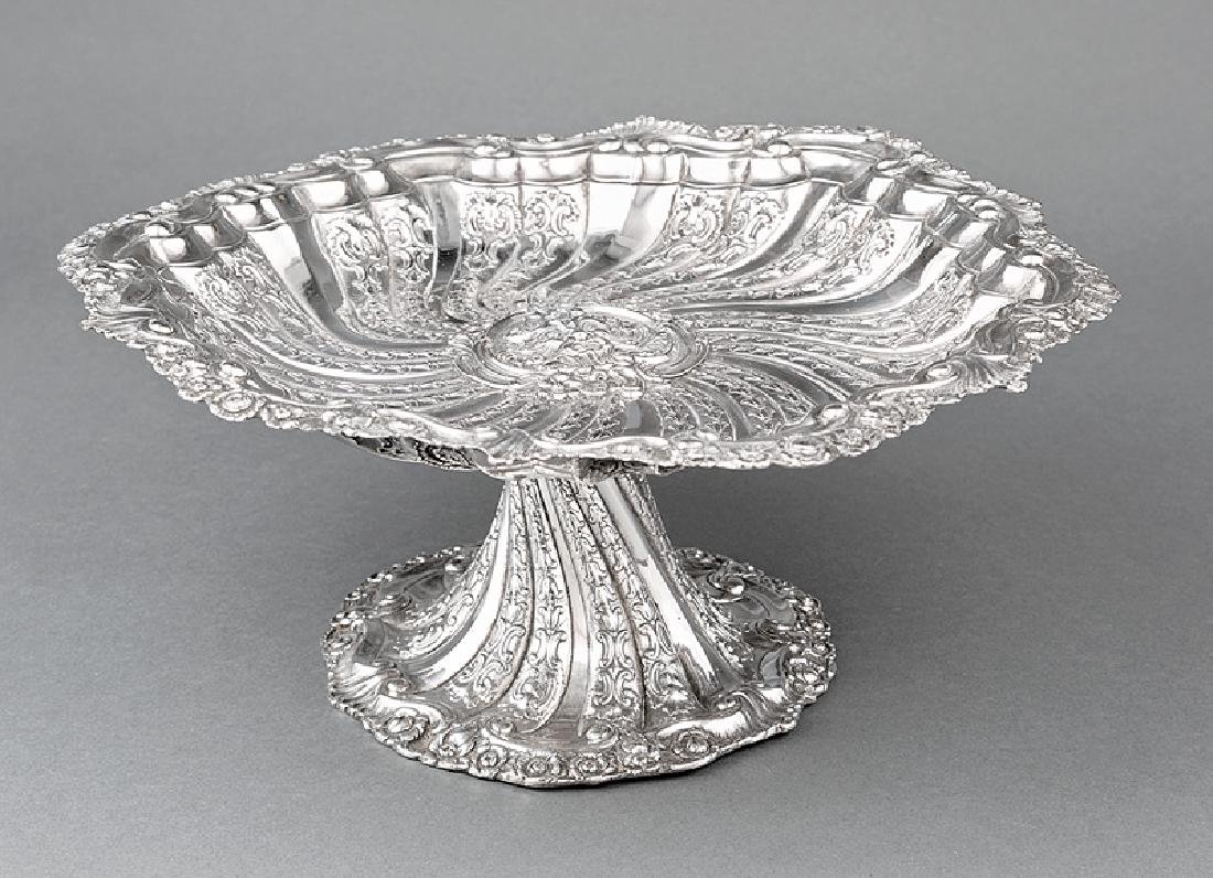 Handsome English Silverplate Tazza