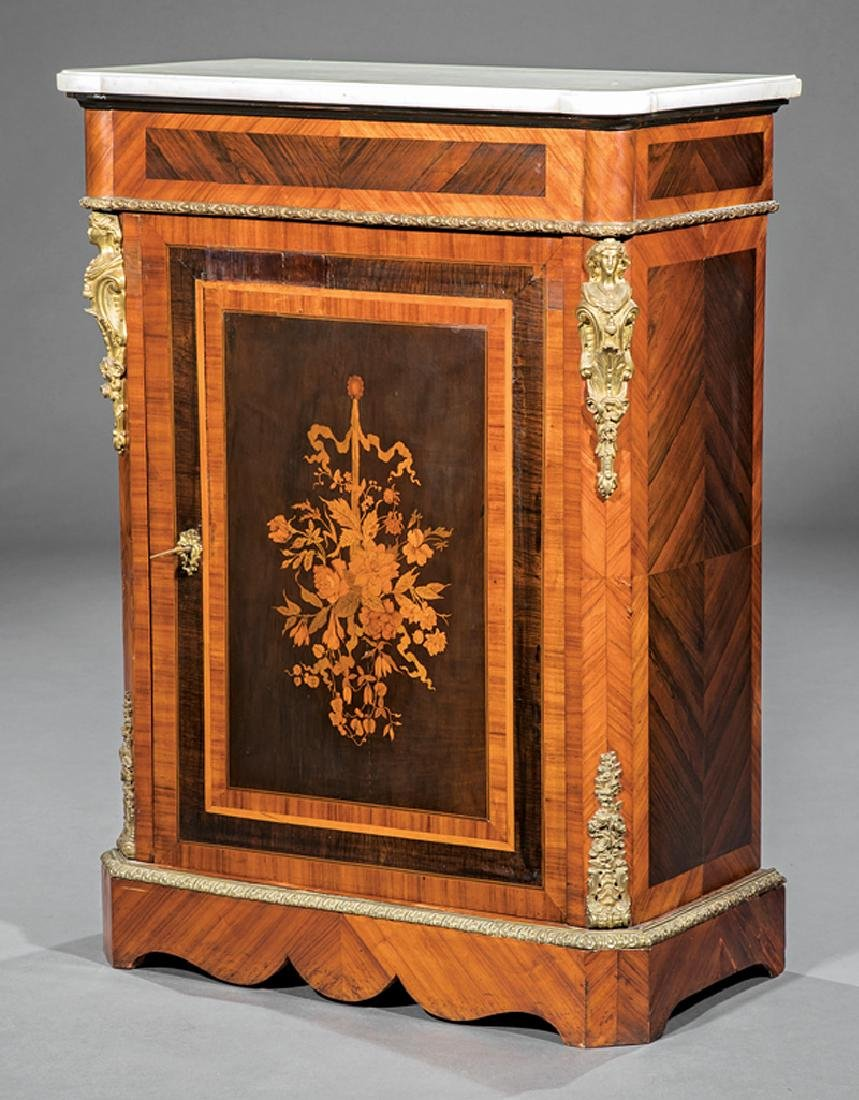 Inlaid Kingwood and Rosewood Music Cabinet