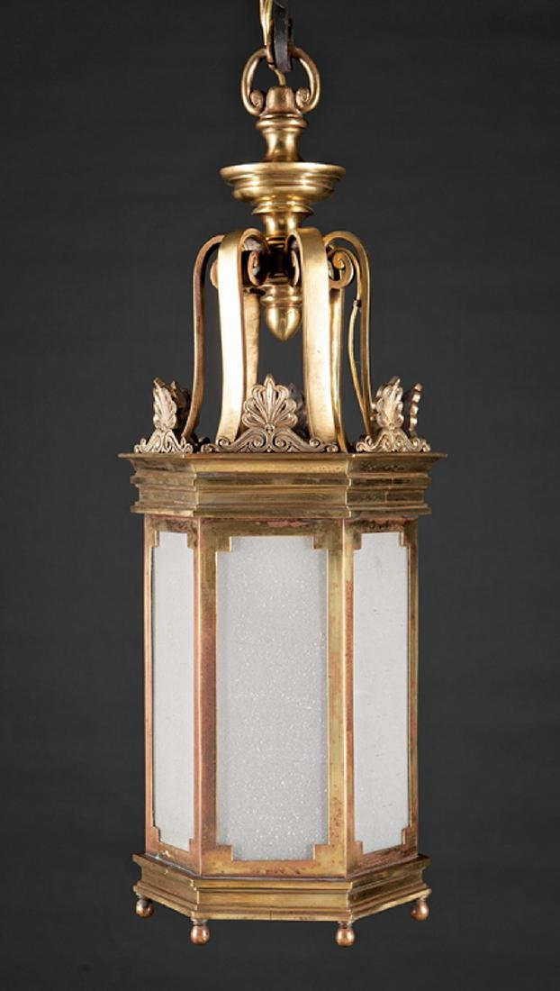 English Bronze Hall Lantern