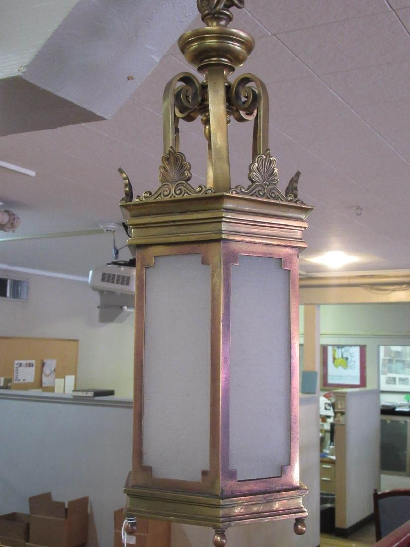English Bronze Hall Lantern - 2