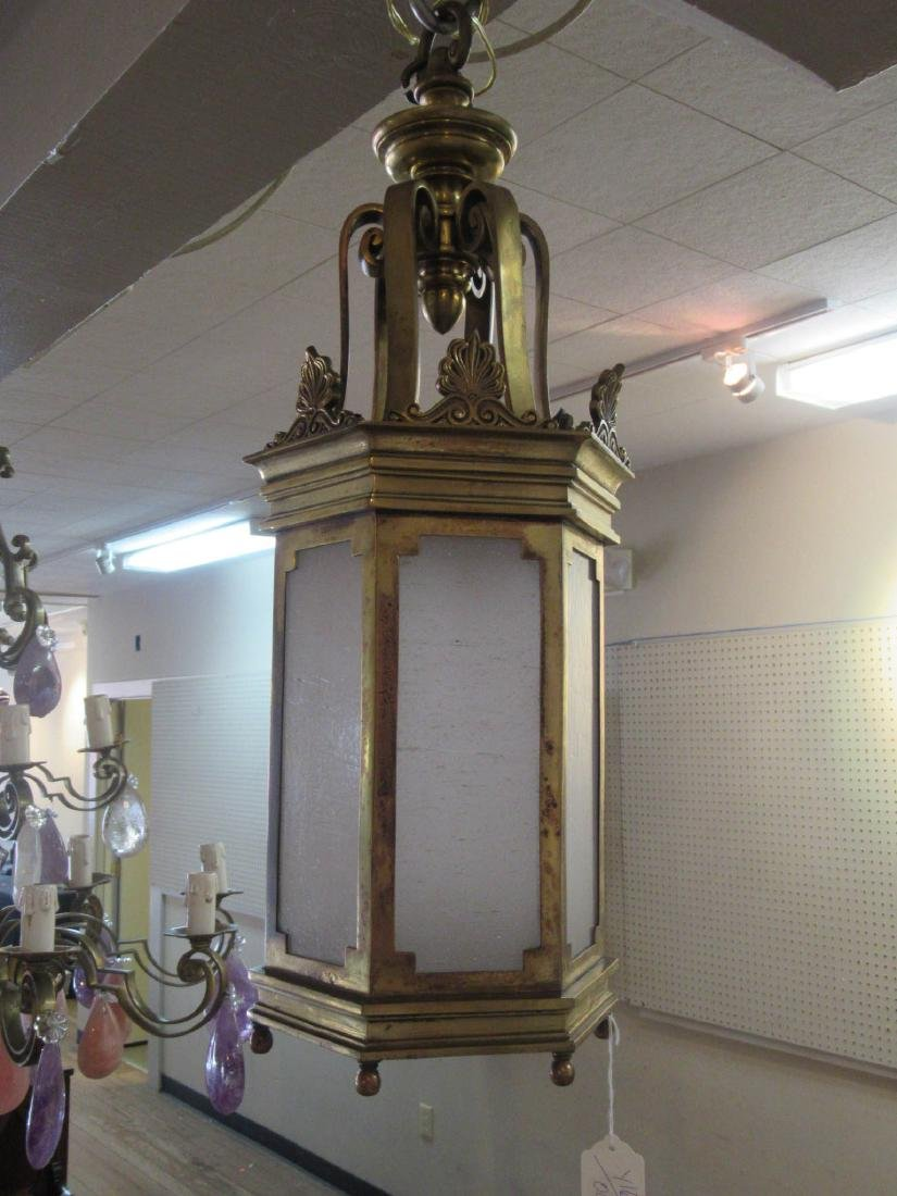 English Bronze Hall Lantern - 4