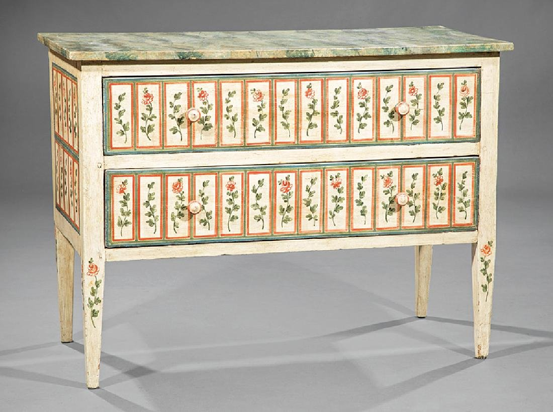 Italian Neoclassical-Style Polychrome Commode