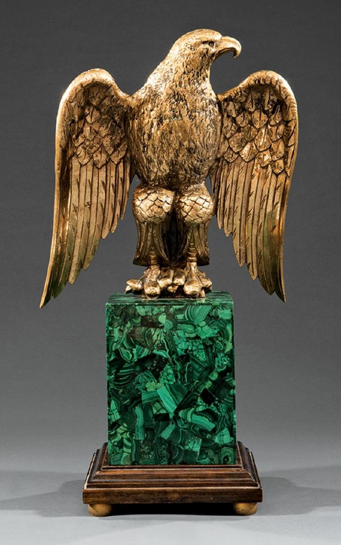 Gilt Bronze Figure of a Spreadwing Eagle